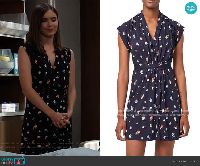 Roseau Meadow Minidress by French Connection worn by Willow Tait (Katelyn MacMullen) on General Hospital