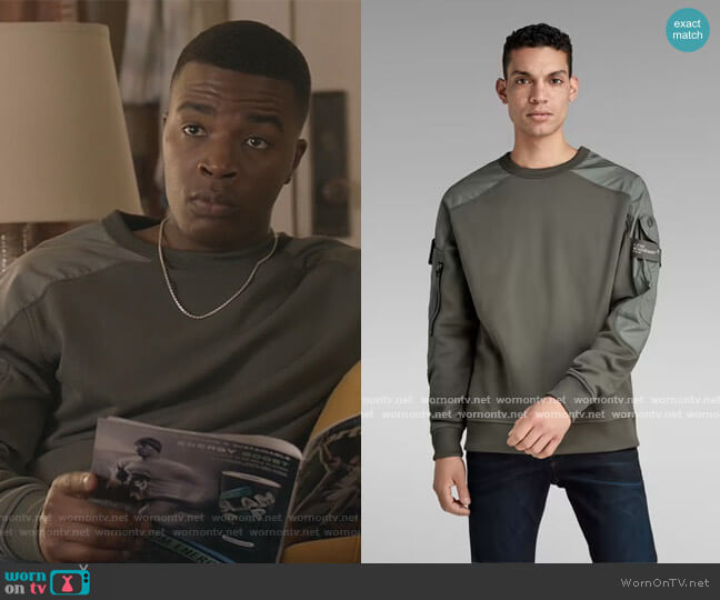 Container Sweater by G-Star Raw worn by Daniel Ezra on All American worn by https://www.cwtv.com/shows/all-american (CWTV) on Uncategorized