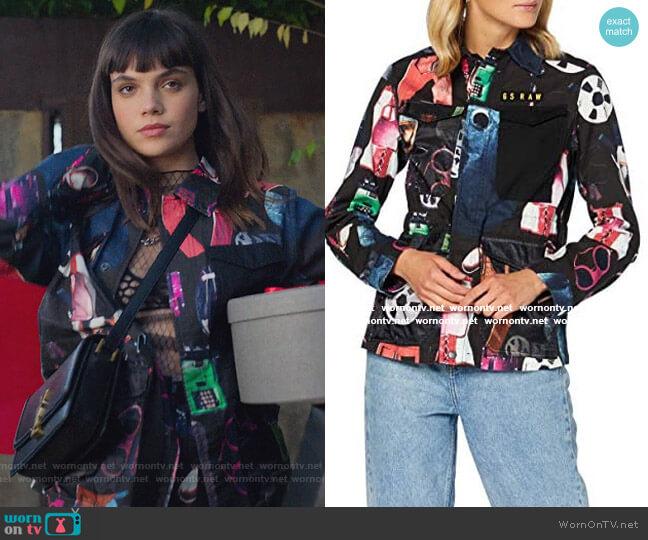 Printed Jacket by G-Star Raw worn by Mencia Blanco (Martina Cariddi) on Elite