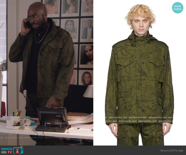 Khaki Astral Military Jacket by Givenchy worn by Stephen Conrad Moore on The Bold Type