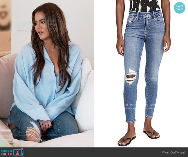 Good Waist Jeans by Good American worn by Khloe Kardashian  on Keeping Up with the Kardashians