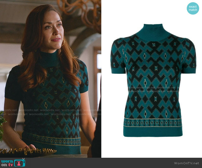 Geometric Knitted Top by Gucci worn by Abigail Pershing (Sarah Power) on Good Witch