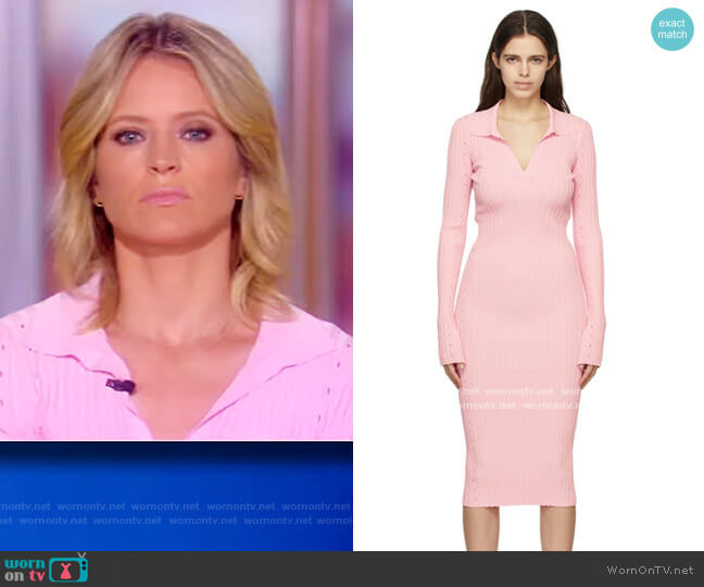 Pink Slash Dress by Helmut Lang worn by Sara Haines  on The View