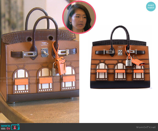 Birkin Sellier Faubourg Bag by Hermes worn by Crystal Kung Minkoff  on The Real Housewives of Beverly Hills