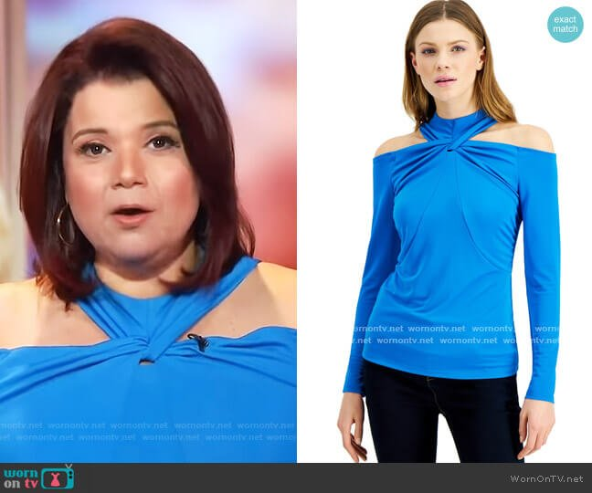 Twisted Cold-Shoulder Top by INC International Concepts worn by Ana Navarro  on The View