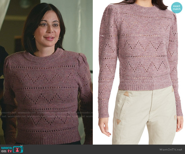 Norma Pullover by Isabel Marant Etoie worn by Cassandra Nightingale (Catherine Bell) on Good Witch
