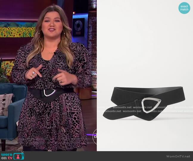 Linka calf hair waist belt by Isabel Marant worn by Kelly Clarkson  on The Kelly Clarkson Show
