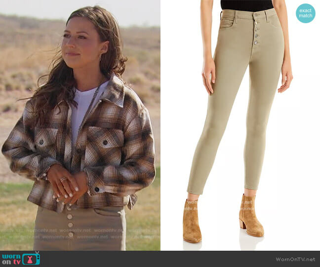 Lillie High Rise Cropped Skinny Jeans by J Brand worn by Katie Thurston  on The Bachelorette