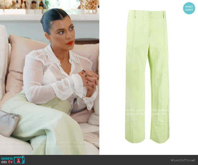 High-Waisted Trousers by Jacquemus worn by Kourtney Kardashian  on Keeping Up with the Kardashians