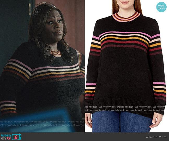 Rai Stripe Pullover Sweater by Jessica Simpson worn by Ruby Hill (Retta) on Good Girls