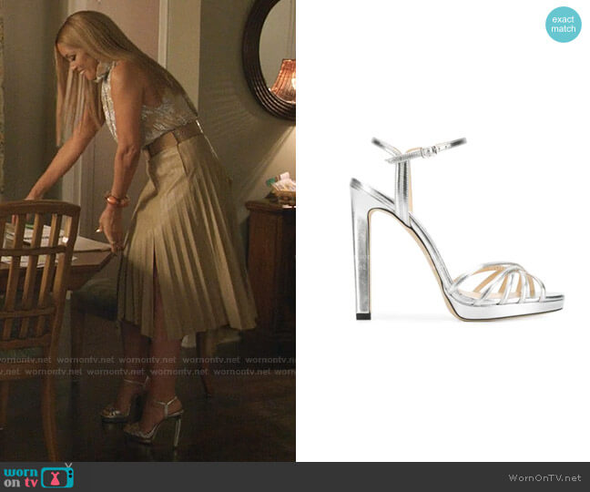 Lilah Sandals by Jimmy Choo worn by Dominique Deveraux (Michael Michele) on Dynasty