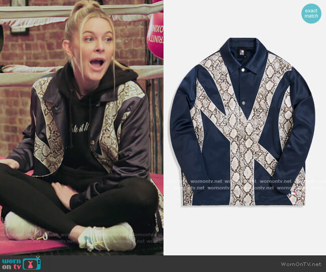 New York Yankees Coaches Jacket by Kith worn by Leah McSweeney  on The Real Housewives of New York City