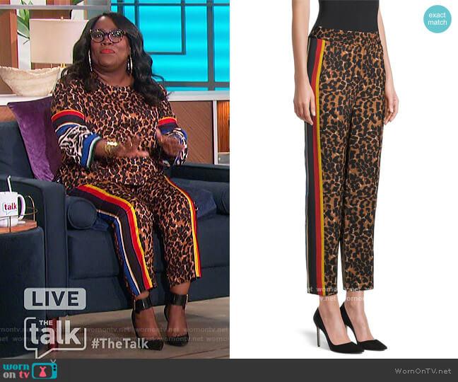 Aria Printed Pants by Kobi Halperin worn by Sheryl Underwood  on The Talk