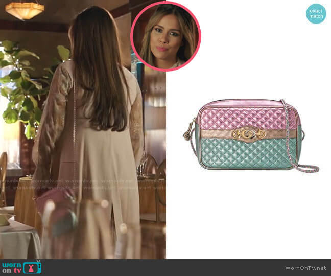 aminated Leather Ahoulder Bag by Gucci worn by Cristal Jennings (Daniella Alonso) on Dynasty
