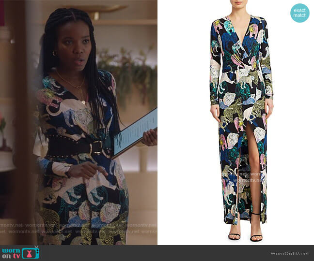 Les Chats Maxi Dress by Le Superbe worn by Rachel Mutombo on The Bold Type