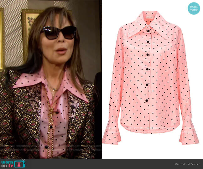 Patterned Shirt by Marc Jacobs worn by Kate Roberts (Lauren Koslow) on Days of our Lives