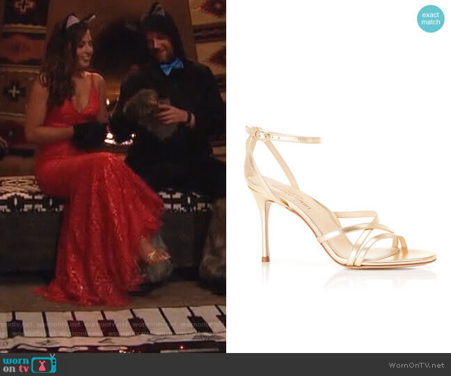 Lillian Strappy Evening Sandals by Marion Parke worn by Katie Thurston  on The Bachelorette