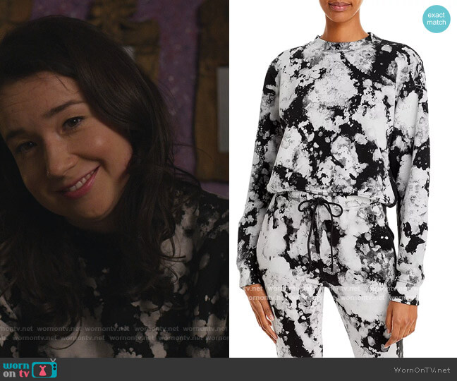 Milan Cropped Tie Dyed Sweatshirt by Cotton Citizen worn by Marissa Gold (Sarah Steele) on The Good Fight