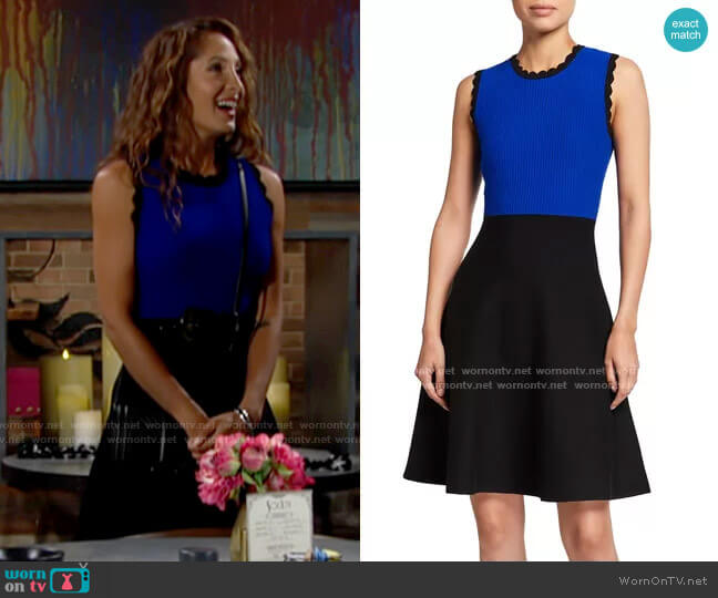 Milly Scalloped Colorblock Dress worn by Lily Winters (Christel Khalil) on The Young & the Restless