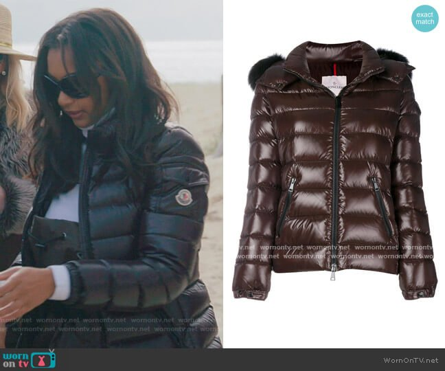 Bady Fur Jacket by Moncler worn by Eboni K. Williams (Ebony K. Williams) on The Real Housewives of New York City