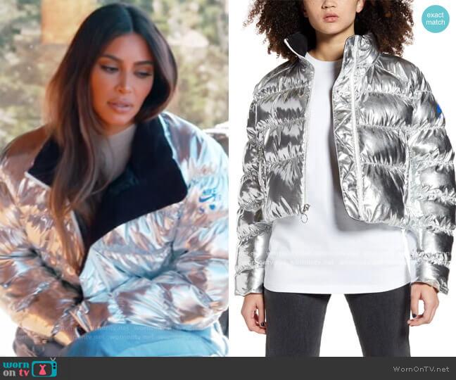x Olivia Kim NRG Puffer Coat by Nike worn by Kim Kardashian  on Keeping Up with the Kardashians