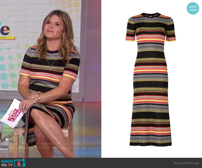 Robe Striped Midi Dress by Paco Rabanne worn by Jenna Bush Hager  on Today