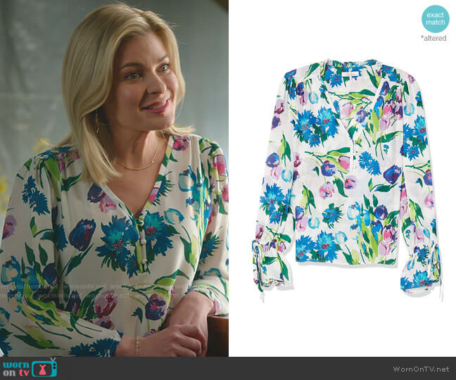Cassidy Blouse by Parker worn by Stephanie Borden (Kylee Evans) on Good Witch