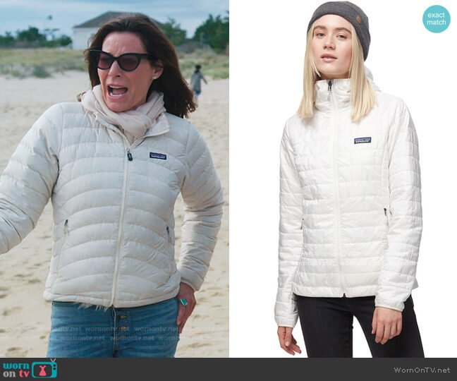Nano Puff Hooded Insulated Jacket by Patagonia worn by Luann de Lesseps  on The Real Housewives of New York City