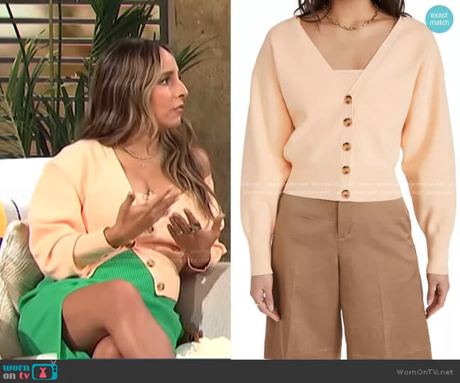 Peters II Cardigan by A.L.C. worn by Lilliana Vazquez  on E! News