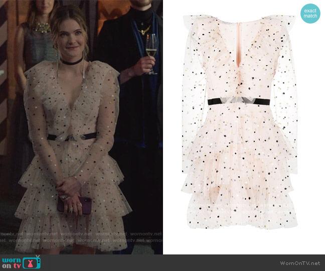 Polka Dot-print Mini Dress by Philosophy Di Lorenzo Serafini worn by Sutton (Meghann Fahy) on The Bold Type