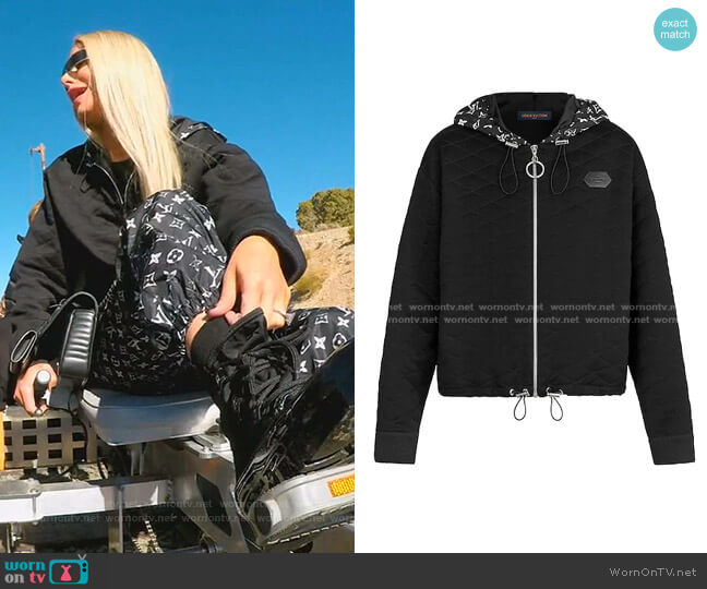 Quilted Zip-Up Hoodie by Louis Vuitton worn by Dorit Kemsley  on The Real Housewives of Beverly Hills
