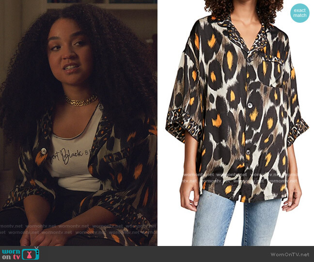 Pajama Top by R13 worn by Kat Edison (Aisha Dee) on The Bold Type