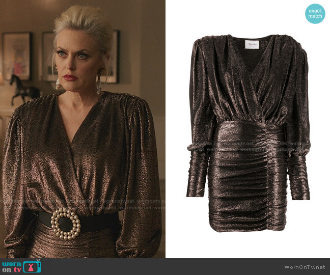 Ruched Mini Dress by Redemption worn by Alexis Carrington (Elaine Hendrix) on Dynasty
