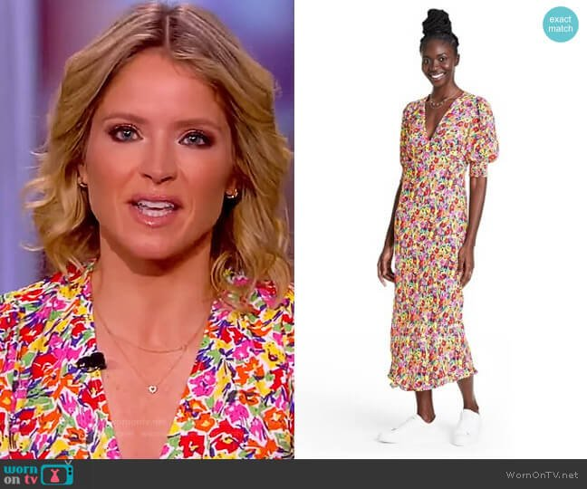 Floral Puff Sleeve Dress by Rixo worn by Sara Haines  on The View