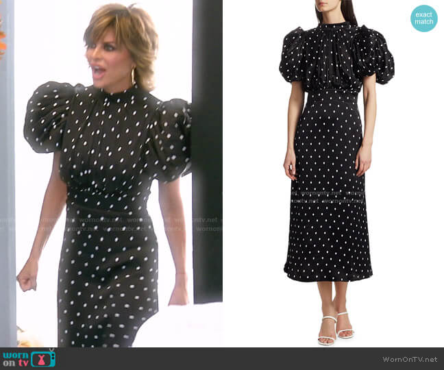Dawn Midi Dress by Rotate Birger Christensen worn by Lisa Rinna  on The Real Housewives of Beverly Hills