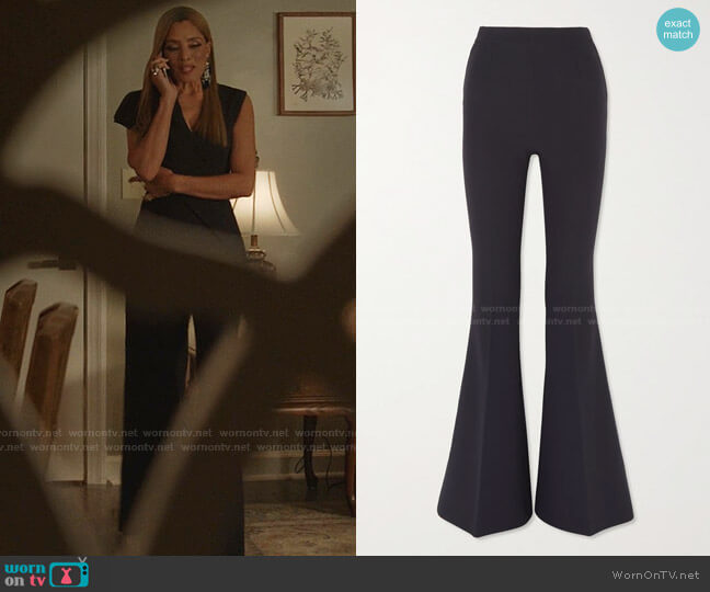 Halluana Flared Pants by Safiyaa worn by Dominique Deveraux (Michael Michele) on Dynasty