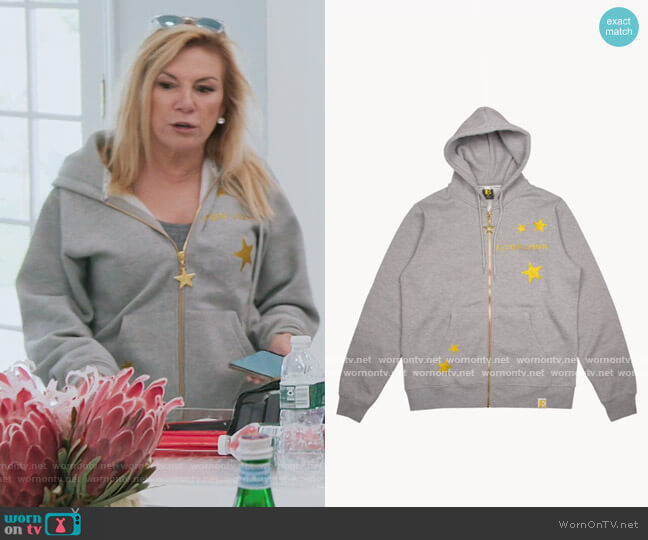 Sequined E Hoodie by Elton John worn by Ramona Singer  on The Real Housewives of New York City