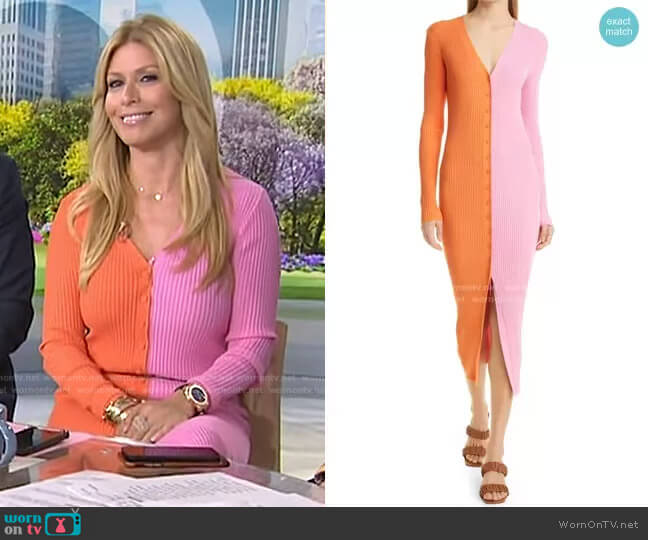 Shoko Colorblock Sweater by Staud worn by Jill Martin  on Today