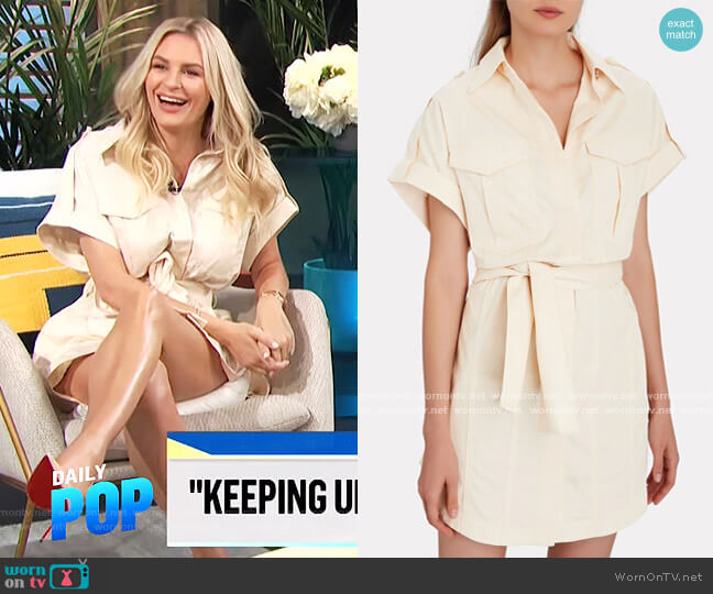Lenny Belted Cotton Cargo Mini Dress by Significant Other worn by Morgan Stewart  on E! News
