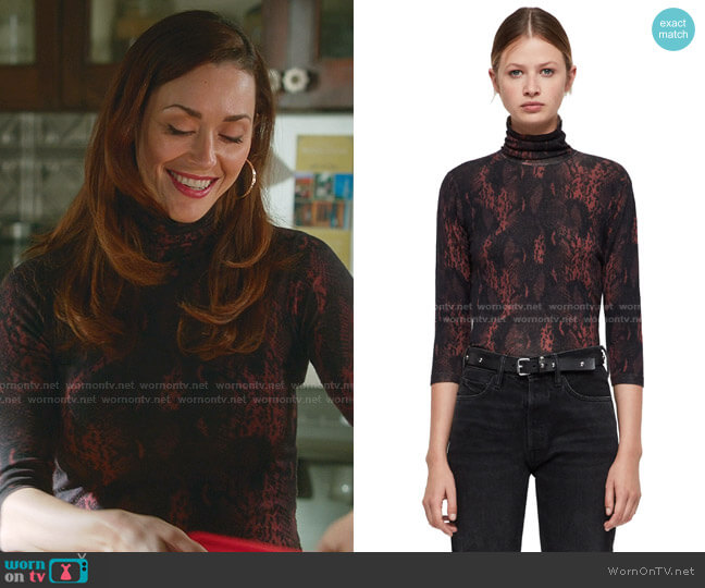 Suki Top by All Saints worn by Abigail Pershing (Sarah Power) on Good Witch