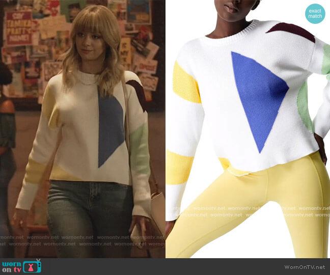 Flash Dance Sweater by Sweaty Betty worn by Anna Lore on All American