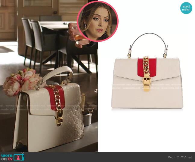Sylvie Top Handle Bag by Gucci worn by Fallon Carrington (Elizabeth Gillies) on Dynasty