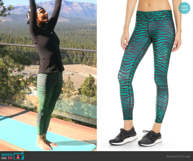 Banded Animal Print Legging by Terez worn by Lisa Rinna  on The Real Housewives of Beverly Hills