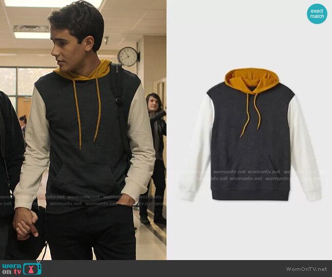 Target Original Use Colorblock Sweatshirt  worn by Victor Salazar (Michael Cimino) on Love Victor