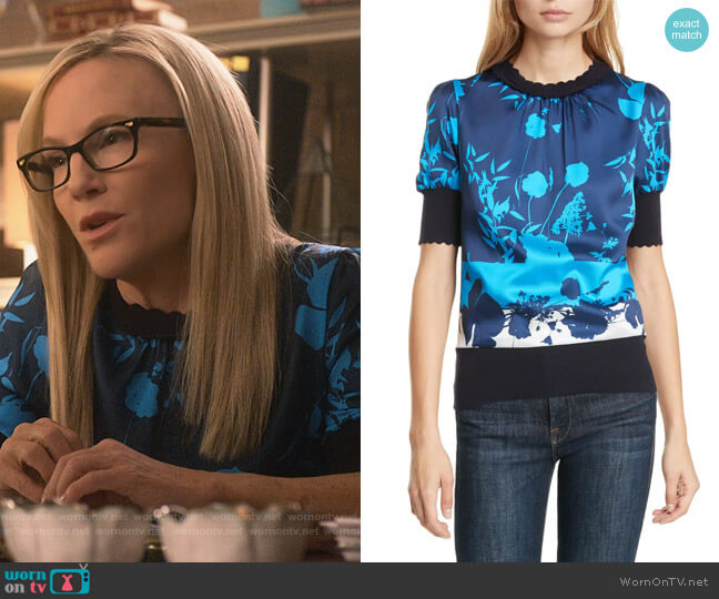 Mehino Bluebell Sweater by Ted Baker worn by Linda Martin (Rachael Harris) on Lucifer