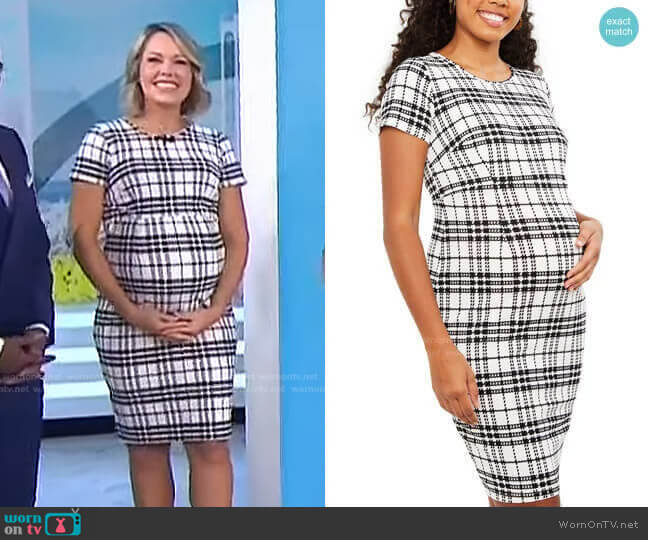 Textured Maternity Dress by Motherhood Maternity worn by Dylan Dreyer  on Today