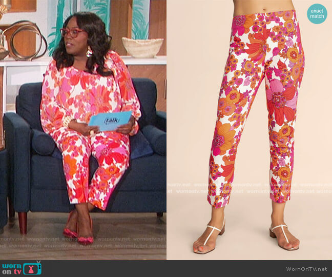 Lahaina Pant by Trina Turk worn by Sheryl Underwood  on The Talk