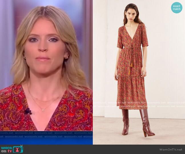 Rafaelle dress by Vanessa Bruno worn by Sara Haines  on The View