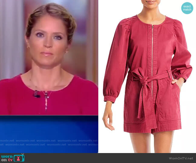 Rossano Belted Romper by Vanessa Bruno worn by Sara Haines  on The View