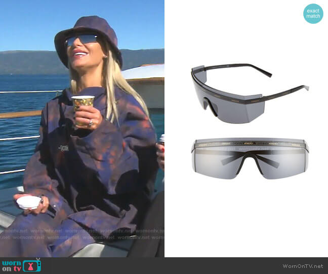 Shield Wrap Sunglasses by Versace worn by Dorit Kemsley  on The Real Housewives of Beverly Hills